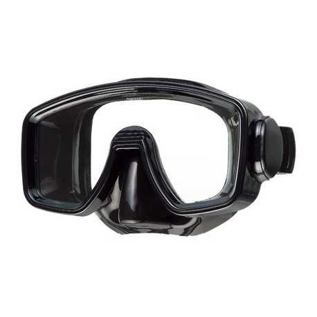 BRAVO enkelglas zwart Duikmasker Problue