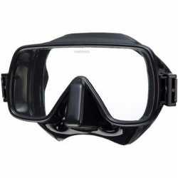 MS-112B Frameless enkelglas masker / zwart problue