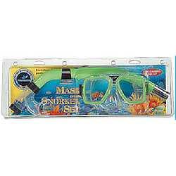 Masker en Snorkel set CS-06P MS-204P + SN-1012P / PVC mondstuk