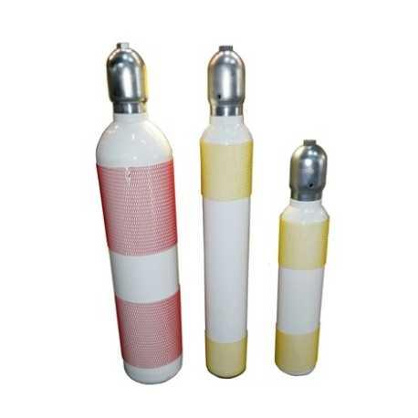 Flessen euro - cylinder , Staal wit concave Voor de Schietsport 300 bar inkl kraan 28.8